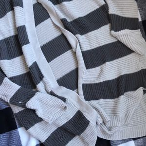 Hooded stripped cardigan!!